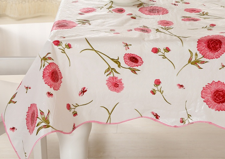 SILVER EMBOSSED FLORAL  PVC PLASTIC VINYL OIL TABLE CLOTH COVER PROTECTOR