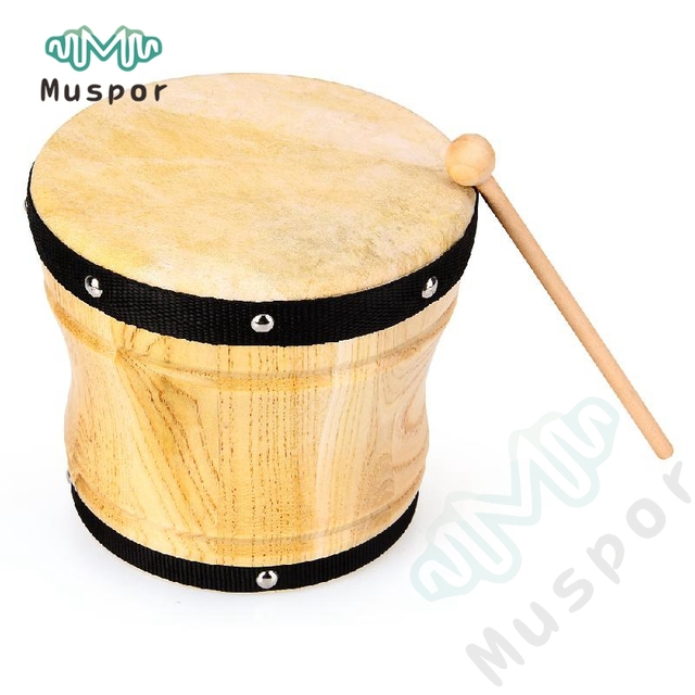 dongo drums 18cm 7 wooden orff percussion instruments children s