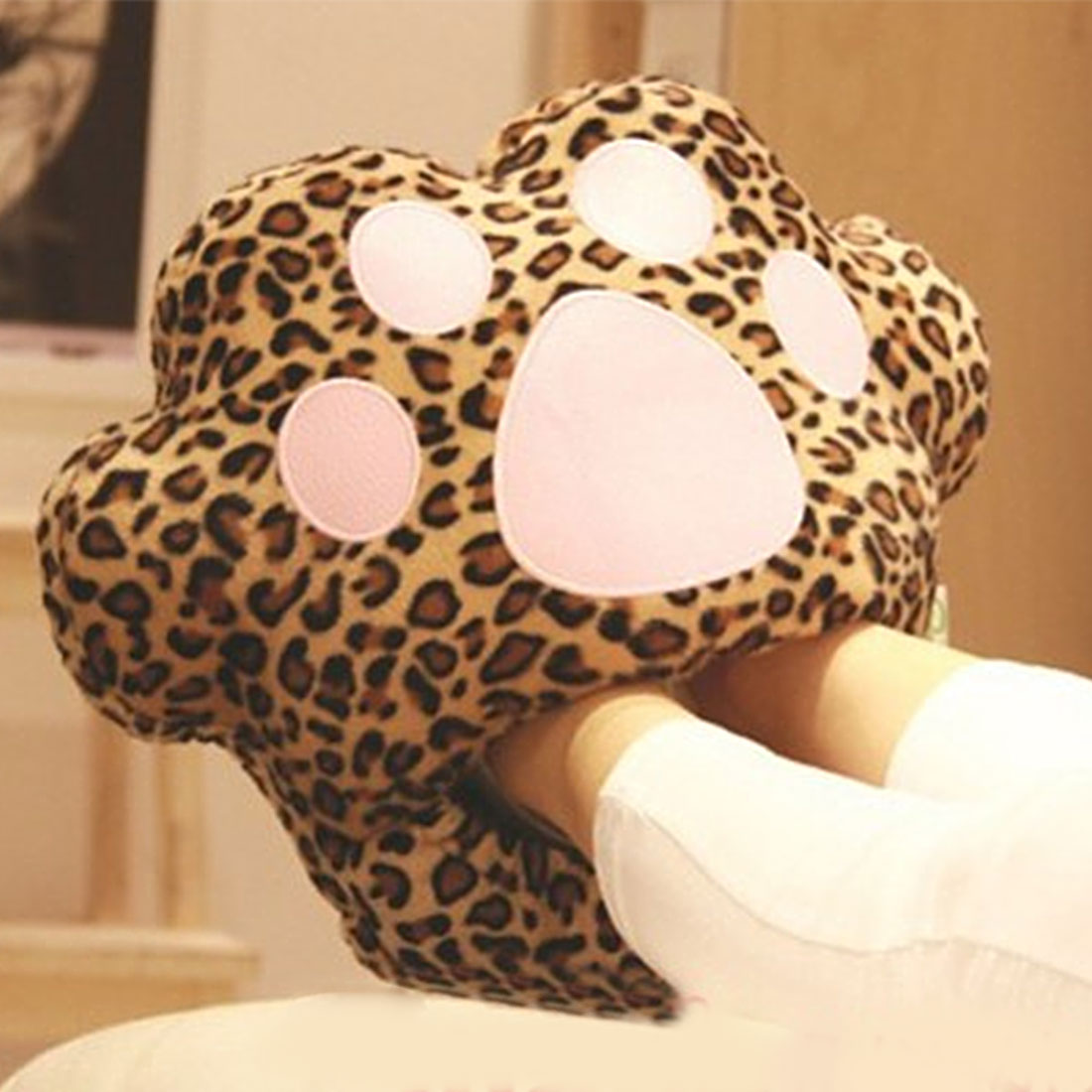 Practical Big Feet Warm Slippers Cartoon USB Foot Warmer Shoes Computer PC Electric Heat Slipper soft and comfortable