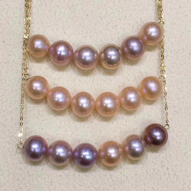 100% réel 18 k AU750 or sourire chaîne clavicule perles collier pour femmes filles enfants amant mode bijoux sourire visage conception - 4