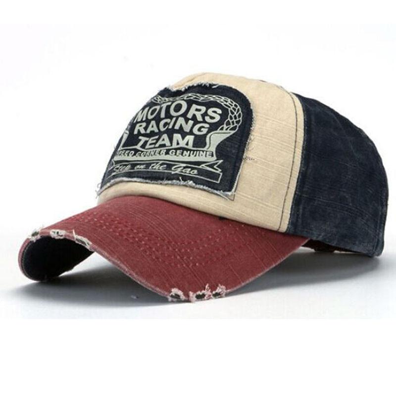 Prix pour New Unisexe Femmes Hommes Casquette de baseball Coton Moto Bord Vieux Chapeau Top Qualité
