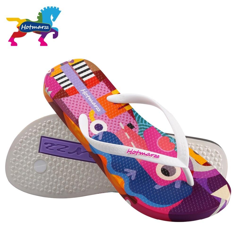 eaffecff8bb093 Hotmarzz Women Designer Flip Flops Cartoon Graffiti Slippers Beach Sandals  Summer Shoes 2018 Pool Shower Shoes-in Flip Flops from Shoes on  Aliexpress.com ...