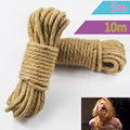 5M 10M Linen SM Rope Thick Strong Fetish Sex Bondage Ropes Harness Adult Flirting BDSM Game Femdom Toys for Women Men