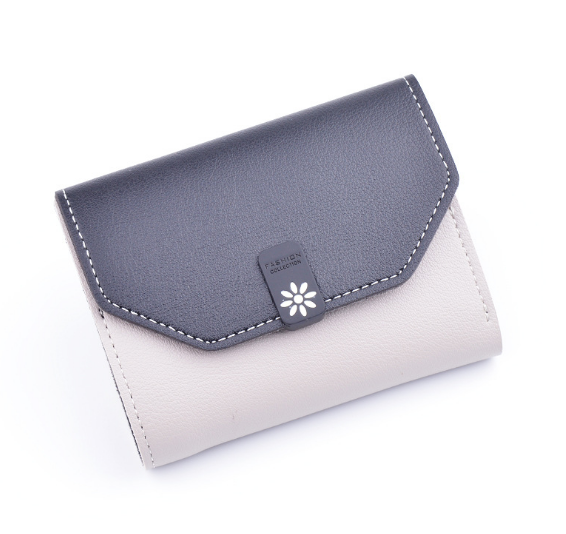 New Minimalist Large Capacity Female Wallet Casual Portable Flower Pearl Student Wallet Vintage Classic Short Lady Purse C722