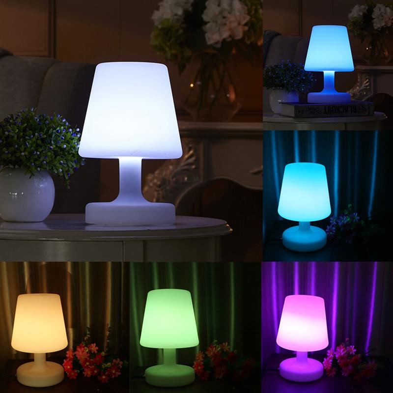 LED Table Lamp Colorful Night Light Desk Lamp Table Lamp with Charger and Remote Control for Office Dorm Bedroom creative waterproof egg shape rgb led table lamp with remote control for bedroom bar restaurant chargeable night light 1330