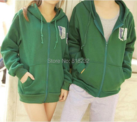 4Colors Attack On Titan Hoodie Sweater Hooded Jacket Coat Cosplay Costumes S XXXL