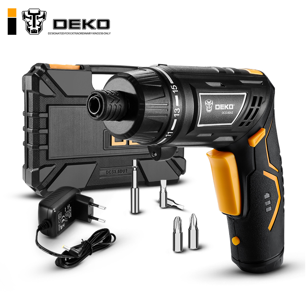 Deko Discount 24 Deko Dcs3 6du2 Cordless Electric Screwdriver Household Rechargeable Battery Screwdriver With