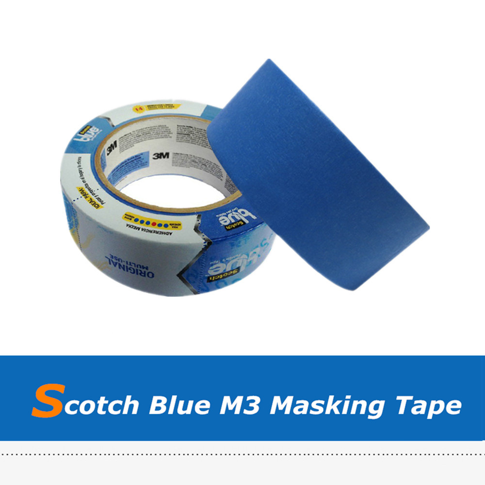 48 Width High Temperature Scotch Blue Painter D Printer Tape For Makerbot, Reprap 205mm width blue masking tape high temperature resistance masking tape for 3d printer makerbot thickness 0 13mm