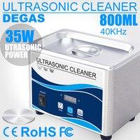 Ultra sonic Cleaner 800ML 35W Huishoudelijke sonic Rvs bad Glazen Sieraden Washer Sterilisator Horloges Ringen Prothese Tattoo-in Ultrasone reinigers van Huishoudelijk Apparatuur op