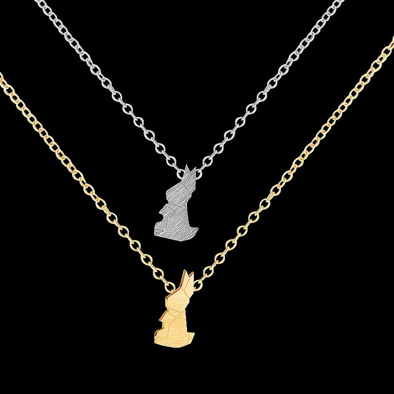2017 easter jewelry good luck origami rabbit choker necklace 2017 easter jewelry good luck origami rabbit choker necklace stainless steel charm women bunny pendant necklace mom gifts bff in pendant necklaces from mozeypictures Image collections