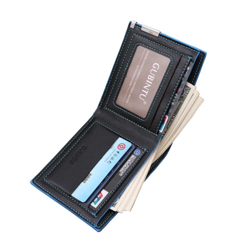 small short wallet men leather famous luxury brand slim men wallets credit card holders coin pocket new Year's gift 1