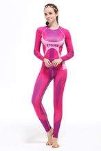 2016 New running sets Women Bodybuilding Fitness Set Gym Running Tights Leggings Sweat pant shirt Long Sleeve Base Layer sets