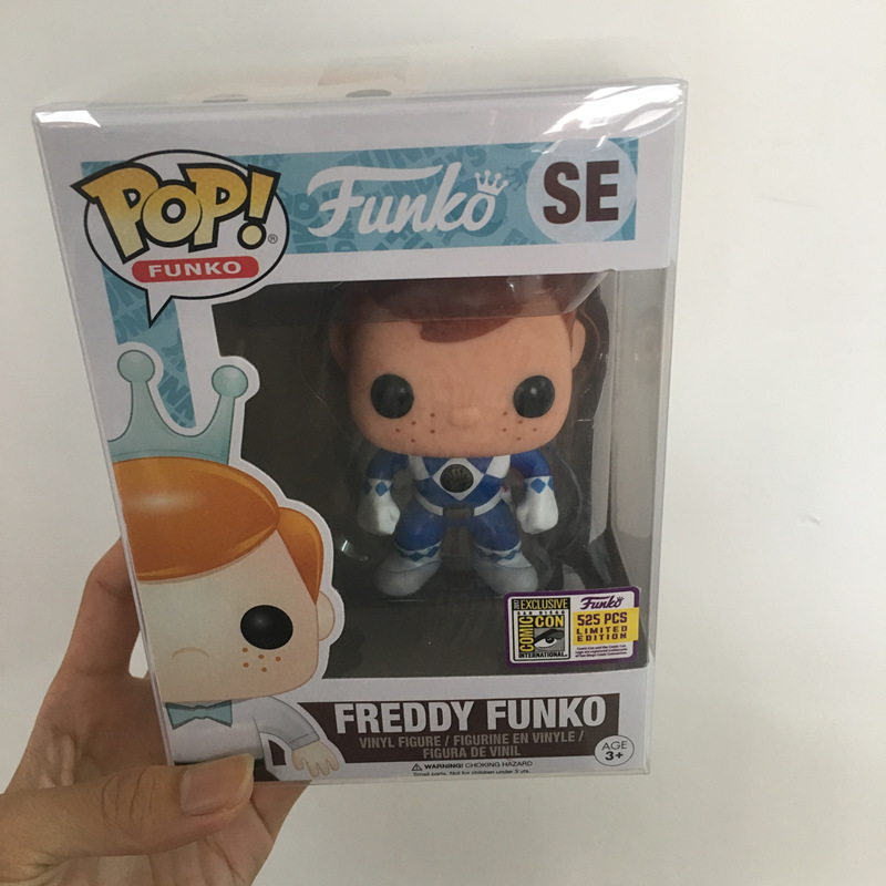 Fundays 2017 Exclusive Funko pop Official Freddy - Blue Ranger Limited Edition 525pcs Vinyl Action Figure Collectible Model Toy exclusive funko pop official dc heroes wonder woman 177 blue dress action figure collectible model toy with original box