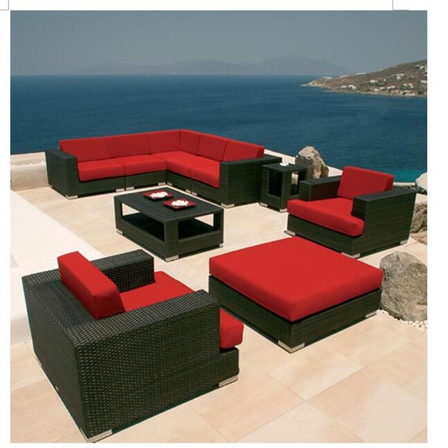 New Cheap Furniture: New Arrival Discount Outdoor Patio Wicker Garden Sofa Set