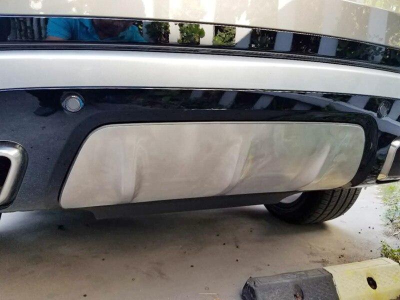 Accessoires Pour Land Rover Range Rover Vélaire 2017 2018 Extérieur En Acier Mat Arrière Inférieure Bumper Protecteur Couverture 1 * voiture style