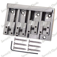 High Quality Vintage 4 String Saddle Bass Bridge Top Load Or Strings Through Body 2 Colors
