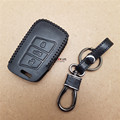 1pc Leather Key Fob Case Bag Key Chain Ring Cover For Volkswagen VW Passat B8 2016 2017
