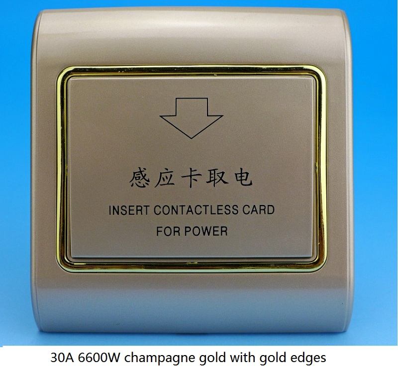 Switch Inductive Card Power Type RF Card Gold Switch Champagne Gold