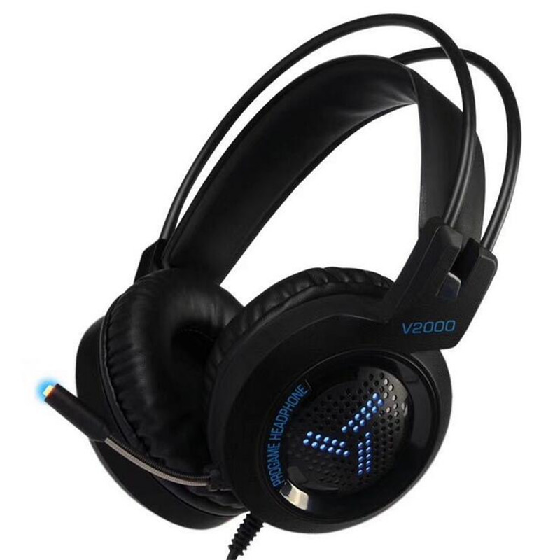 Led Light Over-ear Headset Computer Game Headphone Gaming Wired Headset Bass Sound Stereo Headphones With Microphone For Lol