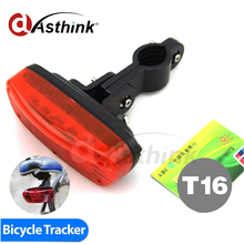 Hot Bike T16 Tracker GSM/GPRS GPS Mini dispositivo Oculto para Bicicleta de Banda Cuádruple en tiempo Real Google Map de seguimiento batería de Larga espera