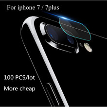 100 PCS Fingerprint Back Transparent Camera Lens Protective Protector Guard Cover For iphone 7 7plus Tempered Glass Film Clear
