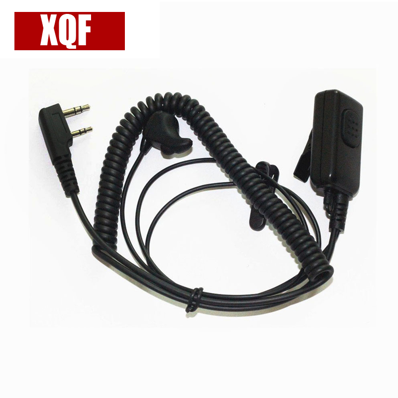 XQF Ear-Vibration Earbone Earpiece Headset Large PTT For Kenwood Puxing Wouxun Two Way Radio Walkie Talkie 2pin