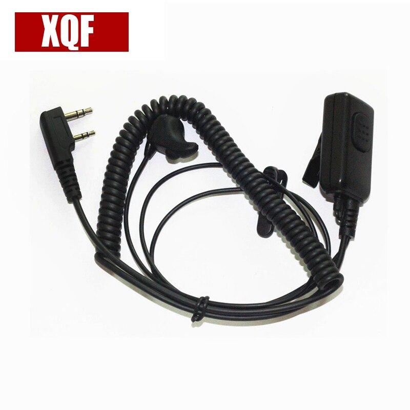 XQF Ear-Vibration Earbone Earpiece Headset Large PTT For Kenwood Puxing Wouxun Two Way Radio Walkie Talkie 2pin