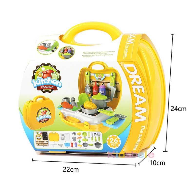 Детский набор кухонных игрушек, мини-ролевые игры, набор для приготовления пищи, пластиковый игровой набор для приготовления пищи, сковорода для Simalation, Детская Классическая игра, лучший подарок для ребенка