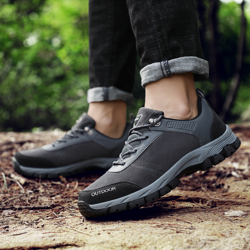 SOCONE Hiking Shoes Non-slip Resistant Men Climbing Shoes Autumn Winter Outdoor Walking Travel Comfortable Trekking Shoes