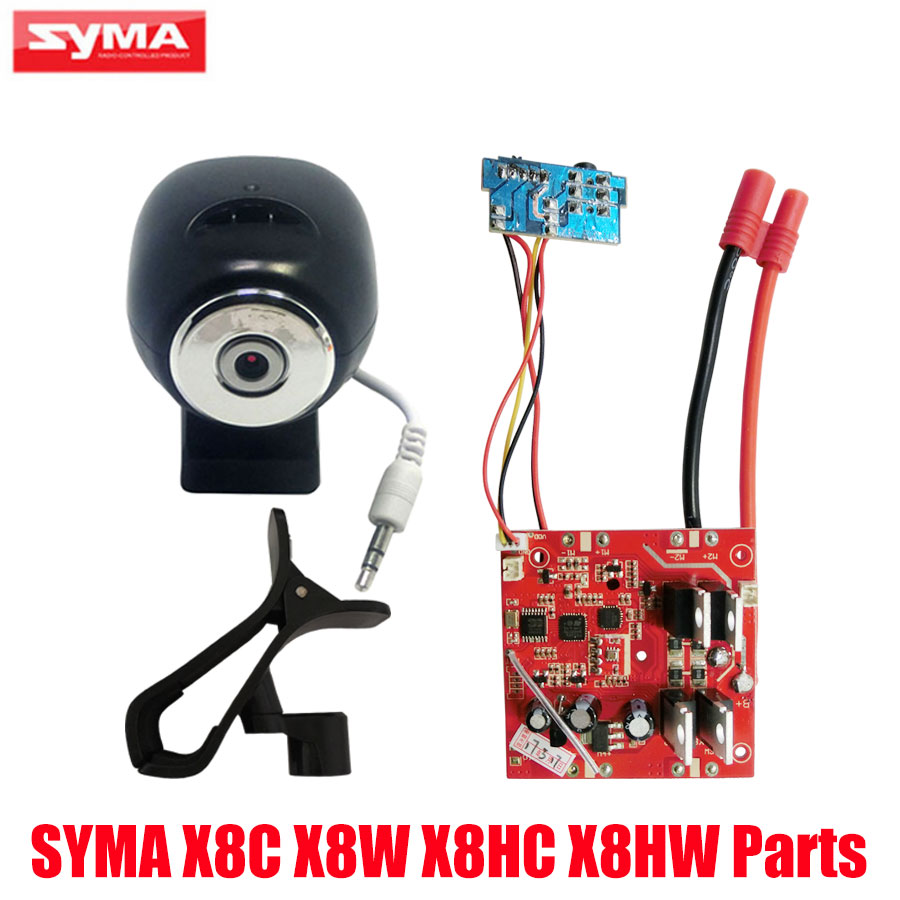 SYMA PCB Circuit board Spare Parts For X8C X8W X8HC X8HW RC Drone HD Camera + WiFi Camera Phone Holder Quadcopter Accessories syma upgraded 8 0mp 1080p hd camera for x8g x8hg x8c x8hc x8w x8hw rc quadcopter