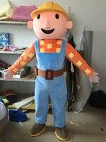 Bob the Builder Mascot Costume Cartoon Animal Mascot Costume Party Costume Free Ship