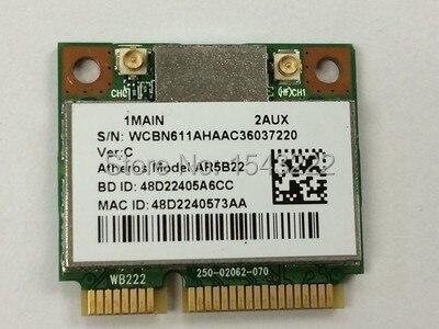 Atheros AzureWave AR9462 AR5B22 WB222 Metade Mini Cartão PCIe 300 Mbps + Bluetooth4.0 WLAN Wi-fi Sem Fio