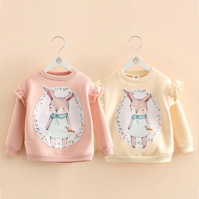 Spring Boys Girls Sweatshirts for 2-10 Years Baby Children Clothes Cotton Casual Boys Girls Sweatshirts Hoodies Tops Plus velvet