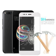RHOADA 9H Premium Tempered Glass Full Cover For Xiaomi Mi A1 5X 5.5inch Screen Protector Film Anti-Scratch Gold Black White(China)