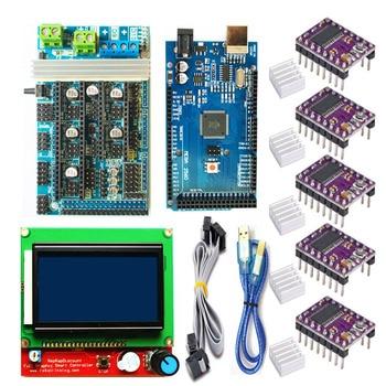 Ramps 1.6 Motherboard Kits Upgrade Ramps 1.4 Ramps 1.5+A4988/DRV8825 Stepper Motor Driver+Mega 2560 R3 Reprap Mendel+LCD 12864