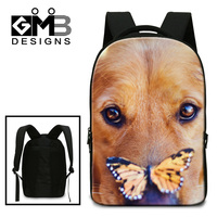 Dispalang 3D Animal Dog Printing Back Pack For College Students Men S Daily Backpacks Good Quality
