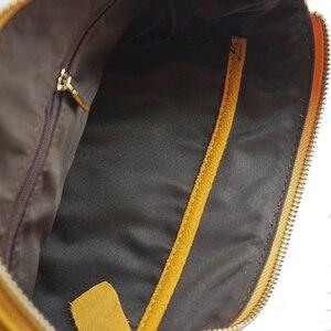 Image 5 - หนังนิ่มหนังกระเป๋าสะพายซองจดหมายหญิงกระเป๋า Crossbody ผู้หญิง Nubuck หนังมัสตาร์ด Clutch Sling Bag