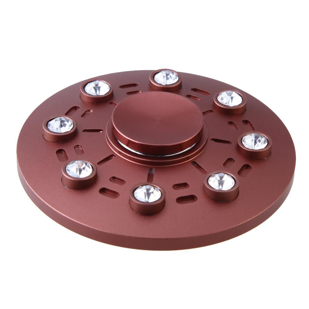 2017 UFO Tri spinner Fidget Spinner Rhinestones Round Hand Spinner EDC For ADHD Adults Children Anxiety