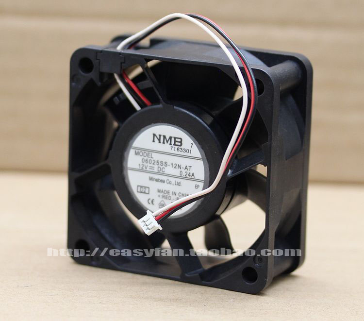 New original NMB 06025SS-12N-AT 6025 12V 0.24A 60 *60 *25mm 3pin 6CM / cm Cooling fan nmb new and original fba09a12m 9025 9cm 12v 0 2a chassis silent cooling fan 90 90 25mm