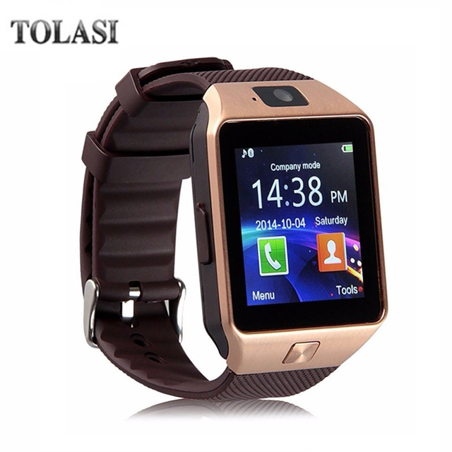 Relojes inteligentes Bluetooth 2018 DZ09 Smartwatch para Android Apple teléfono reloj compatible con Facebook Whatsapp SD SIM con cámara