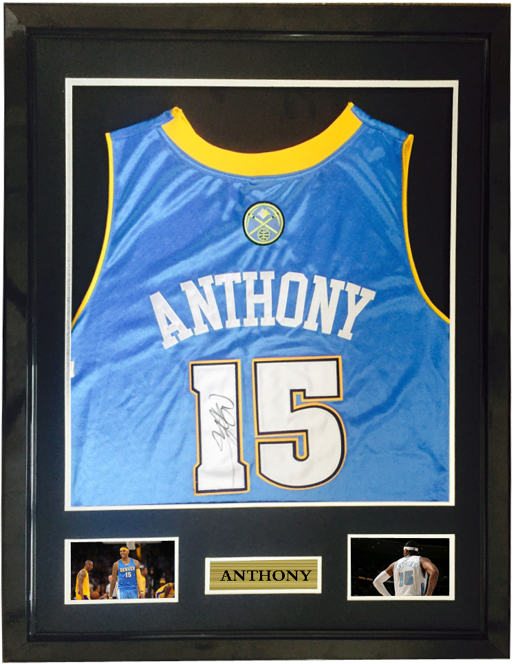 best sneakers fec84 c97b1 Carmelo Anthony signed autographed basketball shirt jersey ...