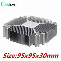 Free Shipping DIY Heatsink 30w 100w Pure Aluminium Heat Sink For DIY Intel LGA 1155 1156