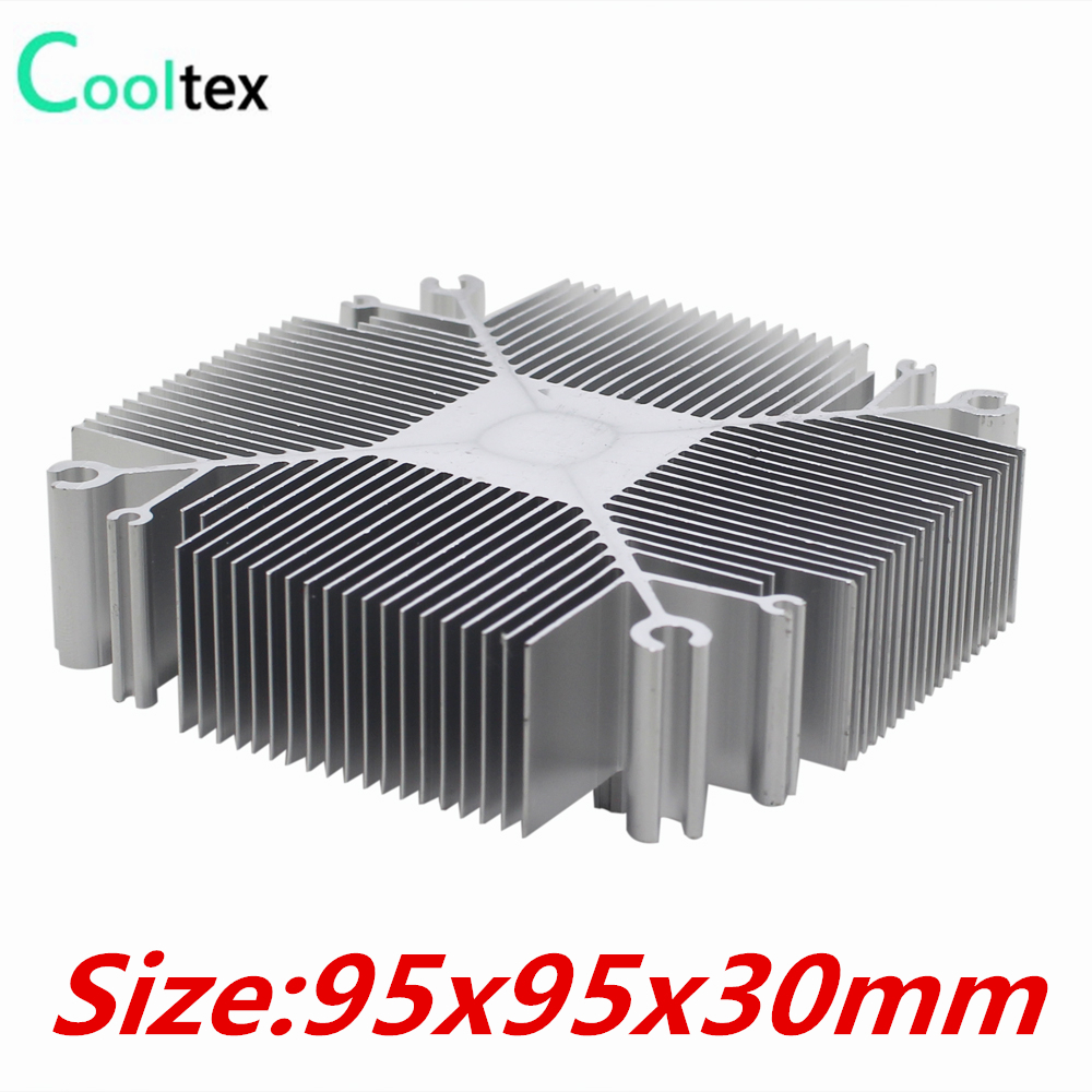 DIY LED Heatsink 30w-100w Pure aluminium heat sink radiator for Led Light cooler cooling pure copper heatsink 80x80x20mm skiving fin heat sink radiator for electronic chip led power amplifier cooling cooler