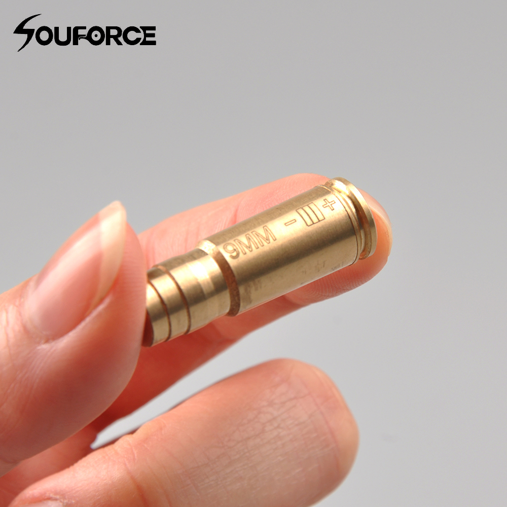 <font><b>9</b></font> <font><b>mm</b></font> Bore Sighter Red Dot Laser Calibrator Cartridge Tactical Bore sight Hunting for Airsoft Rifle Scope <font><b>Gun</b></font> Accessory image