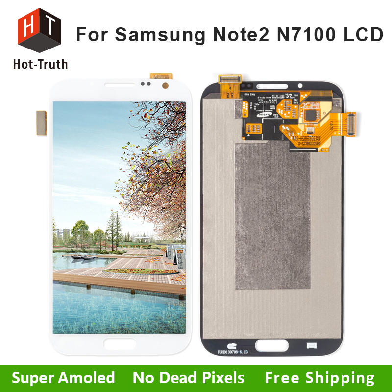 Hot-Truth AAA+Quality Lcd Display For Samsung Galaxy Note 2 N7100 Touch Screen Digitizer Assembly Replacement With Free Shipping