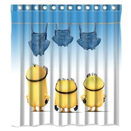 Christmas Decorations For Home Minions Series 160x180cm Waterproof Fabric Bathroom Shower Curtain