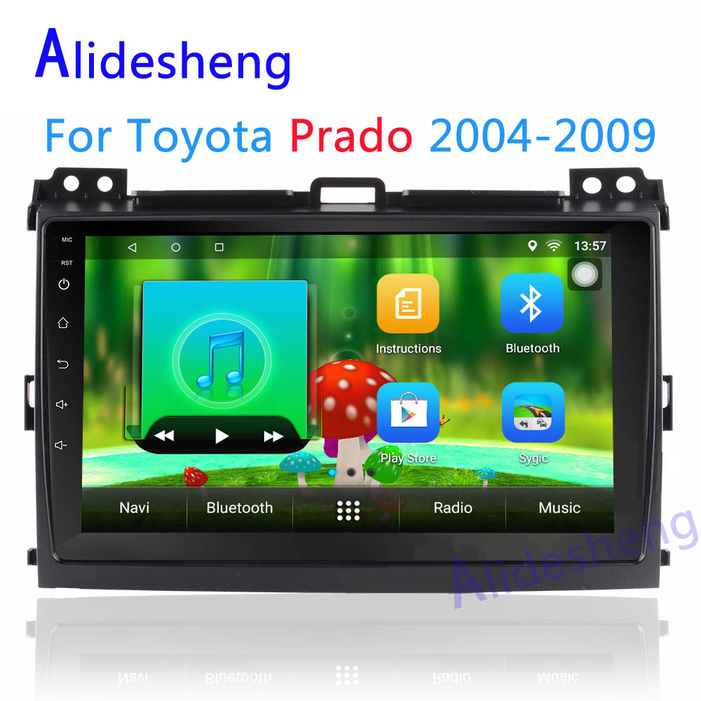 Quad Core Android 7.1 Car DVD Multimedia player for Toyota Prado 120 Land Cruiser 2004 2005 2006 2007 2008 2009 Stereo car radio-in Car Multimedia Player from Automobiles & Motorcycles