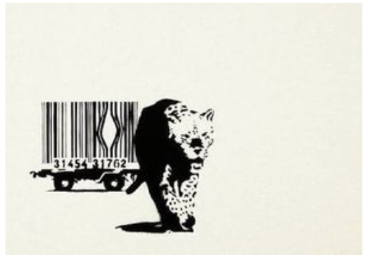 Bar Code 2004 Banksy Street Art Decorative Kraft Poster Canvas Painting Wall Sticker Home Decor Gift image