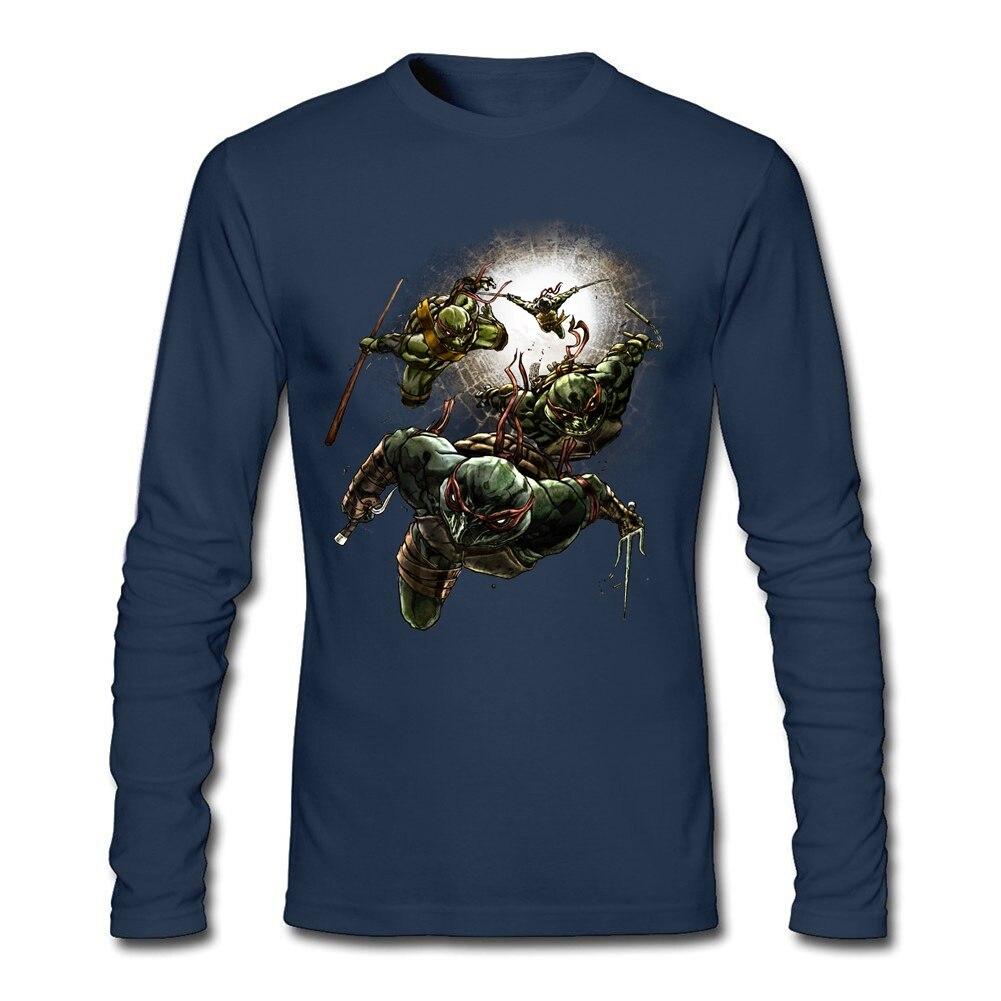 Fruit ninja 3d - 3d Printed Mean Green Ninjas Shirt For Mens Long Sleeve Interesting T Shirts Cool Cotton Male