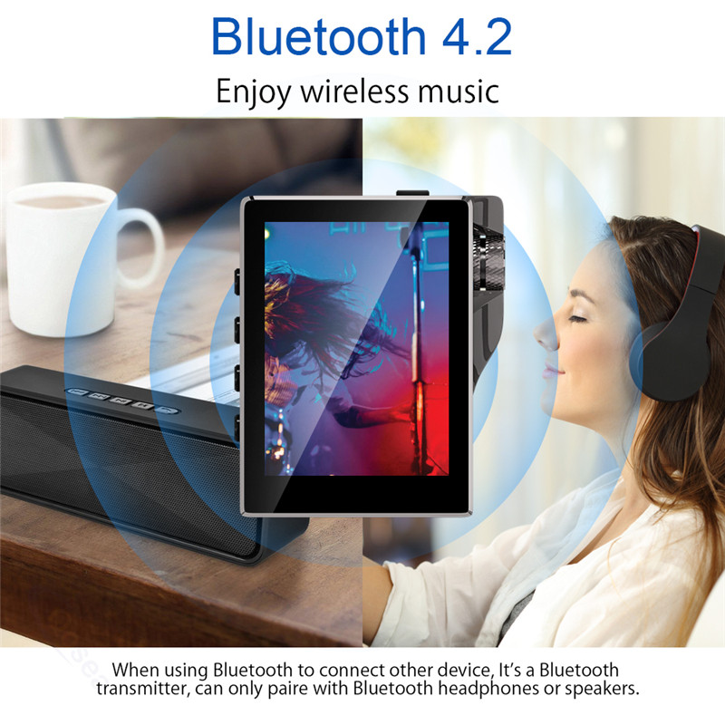 Image 2 - Mp3 плеер с Bluetooth 16 Гб FM радио HiFi музыкальный плеер с высоким разрешением без потерь цифровой аудио с видео электронная книга Запись 8 Гб-in MP3-плееры from Бытовая электроника on AliExpress